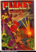 Golden Age (1938-1955):Science Fiction, Planet Comics #68 (Fiction House, 1952). Condition: GD; large waterstain on back cover....