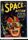 Golden Age (1938-1955):Science Fiction, Space Action #2 (Ace, 1952). Condition: GD/VG....