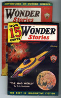 Pulps:Science Fiction, Wonder Stories Group (Standard, 1933-36) Condition: Average VF....