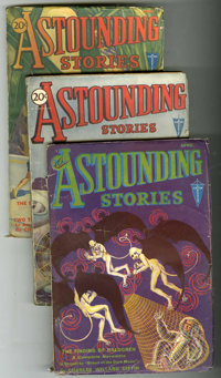 Astounding Stories Group (Street & Smith, 1930-33) Condition: Average VG.... (Total: 7)