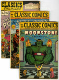 "Golden Age (1938-1955):Classics Illustrated, Classic Comics Group - Davis Crippen (""D"" Copy) pedigree (Gilberton, 1946-47).... (Total: 4)"