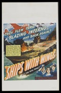 "Movie Posters:War, Ships with Wings (United Artists, 1942). Window Card (14"" X 22"").War. Starring John Clements, Leslie Banks, Jane Baxter and..."