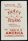 "Movie Posters:Short Subject, This is America (RKO, 1949). One Sheet (27"" X 41"") Style A. ""KilroyReturns."" This was part of the RKO series, ""This is Amer..."