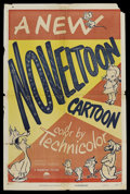 "Movie Posters:Animated, Noveltoon Cartoons Stock Poster (Paramount, 1950). One Sheet (27"" X41""). Animated. Among the Noveltoon characters created b..."