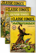 "Golden Age (1938-1955):Classics Illustrated, Classic Comics #22-25 Group - Davis Crippen (""D"" Copy) pedigree (Gilberton, 1944-45).... (Total: 4)"