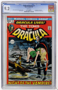 Bronze Age (1970-1979):Horror, Tomb of Dracula #1 (Marvel, 1972) CGC NM- 9.2 White pages....