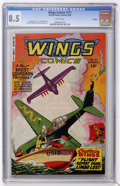 Golden Age (1938-1955):War, Wings Comics #111 Okajima pedigree (Fiction House, 1950) CGC VF+8.5 White pages....