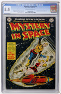 Golden Age (1938-1955):Science Fiction, Mystery in Space #5 (DC, 1952) CGC FN- 5.5 Off-white to whitepages....