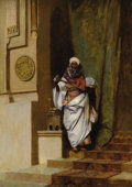 Fine Art - Painting, European:Antique  (Pre 1900), BENJAMIN CONSTANT (French 1845-1902). Tangiers, 1873. Oil onpanel. 15 x 21-1/4 inches (38.1 x 54 cm). Inscribed lower r...