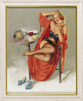Illustration:Pin-Up, GIL ELVGREN (American 1914 - 1980) . American Beauties (I HopeHe Mrs. Me), 1949 . Oil on canvas . 30 x 24in. . Signed l...