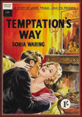 Illustration:Books, ENGLISH ILLUSTRATOR (20th Century) . Temptation's Way .Gouache on board . 22 x 18in. . Not signed . Temptation'sWay...