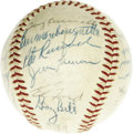 Autographs:Baseballs, 1960 American League All-Star Team Signed Baseball. The last ofseventeen All-Star appearances for the Splendid Splinter, w...