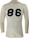 Football Collectibles:Uniforms, Early 1940's Bobby Layne High School Game Worn Jersey. Beloved as much for his free-spirited ways off the field as he was f...