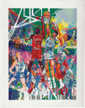 Basketball Collectibles:Others, 1990 Michael Jordan Serigraph by Leroy Neiman. Dazzlingly color style is unmistakably that of the biggest name in sports ar...