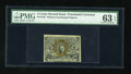 Fractional Currency:Second Issue, Fr. 1232 5c Second Issue Offset Error PMG Choice Uncirculated 63 EPQ....
