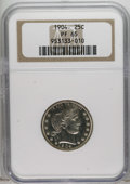 Proof Barber Quarters: , 1904 25C PR65 NGC. The 1904 quarters had a relatively low mintage of 670 pieces, but a goodly number have been certified (a...