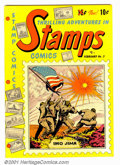Golden Age (1938-1955):Non-Fiction, Stamps Comics #3 (Youthful Magazines, 1952). Condition: NM-....