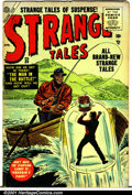 Golden Age (1938-1955):Horror, Strange Tales (1st Series) #35 (Atlas, 1955). Condition: VG+....