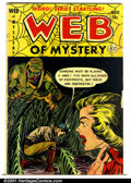 Golden Age (1938-1955):Horror, Web of Mystery #15 (Ace, 1952). Condition: FN-....