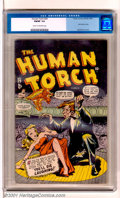 Golden Age (1938-1955):Superhero, The Human Torch #29 (Timely, 1947). Later issue has a Syd Shores Human Torch cover and a back-up Sub-Mariner story. Flat and...