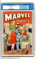 Golden Age (1938-1955):Superhero, Marvel Mystery Comics #87 (Timely, 1948). Solid mid-grade comic has the first Captain America/Golden Girl team-up with a Syd...