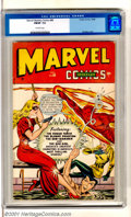 Golden Age (1938-1955):Superhero, Marvel Mystery Comics #88 (Timely, 1948). Scarce later issue has a bunch of cross-overs, including appearances by: Captain A...
