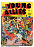 Golden Age (1938-1955):Superhero, Young Allies #2 (Timely, 1941). Second issue has a great action-bondage cover by Joe Simon and Jack Kirby. Attractive mid-gr...