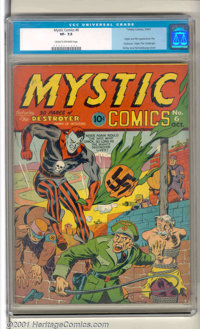 Mystic #6 (Timely, 1941). A Timely Classic! Beneath a striking Kirby/Schomburg cover you'll find such Golden Age greats...