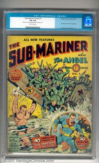 Sub-Mariner Comics #1 (Timely, 1941). Timely's aquatic anti-hero in his own title! Placing #26 on Overstreet's list of T...