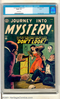 Journey into Mystery #2 Aurora pedigree (Atlas, 1952). Very attractive copy has stellar color inks and gloss with clean...