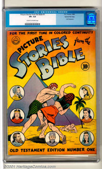 Picture Stories from the Bible #1: Old Testament Edition Gaines File pedigree (DC / EC, 1942). The Old Testament present...
