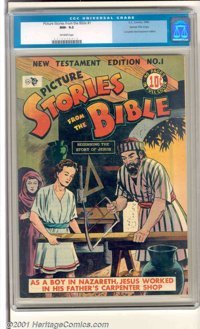 Picture Stories from the Bible #1: New Testament Edition Gaines File pedigree (EC, 1946). A slight crease on the back co...