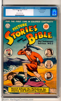 Picture Stories from the Bible #2: Old Testament Edition Gaines File pedigree (DC / EC, 1942). Large Old Testament Editi...