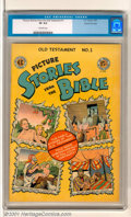 Golden Age (1938-1955):Religious, Picture Stories from the Bible #1: Old Testament Edition GainesFile pedigree (EC, 1943). High-grade first issue includes su...