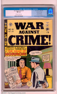 War Against Crime #10 Gaines File pedigree 8/11 (EC, 1949). If you're an EC horror fanatic, here's a book you can't pass...