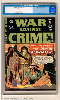 War Against Crime #11 Gaines File pedigree 8/11 (EC, 1950). One of the nicest copies of this book in existence. This cop...