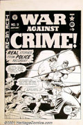 Original Comic Art:Covers, Johnny Craig - Original Cover Art for War Against Crime #9 (EC, 1949). From the late, great Johnny Craig comes this excellen...