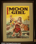 "Original Comic Art:Covers, Sheldon ""Shelly"" Moldoff - Original Cover Art Recreation of MoonGirl #4. Best known as the creator of Hawkman and one of th..."