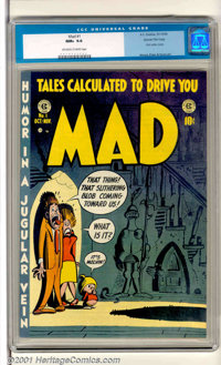 Mad #1 Gaines File pedigree 3/12 (EC, 1952). The humor book that started it all! This is a beautiful example of this cla...