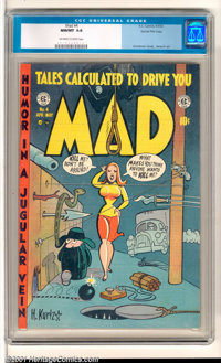 Mad #4 Gaines File pedigree 3/12 (EC, 1953). From the personal collection of William Gaines comes this exceptional copy...