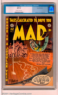Mad #10 Gaines File pedigree 3/12 (EC, 1954). The #3 copy from the Gaines File pedigree, this is an outstanding example...