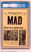 "Golden Age (1938-1955):Humor, Mad #16 Gaines File pedigree 3/12 (EC, 1954). Kurtzman's hilarious ""newspaper"" cover leads off this near-perfect copy of ..."