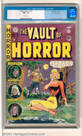 Golden Age (1938-1955):Horror, Vault of Horror #19 Gaines File pedigree 9/12 (EC, 1951). JohnnyCraig's cover is an homage to true love. Flat, sharp and cl...