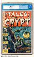 Golden Age (1938-1955):Horror, Tales From the Crypt #22 (EC, 1951). Creepy rotting corpse cover byAl Feldstein. Nice copy with slight soiling on the back ...