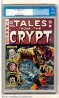 Golden Age (1938-1955):Horror, Tales From the Crypt #35 (EC, 1953). Classic Jack Davis werewolfcover on this high-grade gem. Back cover shows a bit of soi...