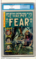 "Golden Age (1938-1955):Horror, The Haunt of Fear #23 Gaines File pedigree 8/12 (EC, 1954). An outstanding cover from ""Ghastly"" Graham Ingels highlights th..."