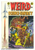 Golden Age (1938-1955):Science Fiction, Weird Science-Fantasy #27 (EC, 1955). Issue has a superb attackinggiant Space-Alien cover by the great Wally Wood. Very sup...