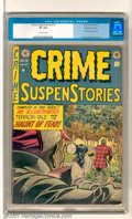 Golden Age (1938-1955):Crime, Crime SuspenStories #12 Gaines File pedigree 9/12 (EC, 1952). An early Haunt of Fear story highlights this great issue. This...