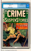 Golden Age (1938-1955):Crime, Crime SuspenStories #24 Gaines File pedigree 9/12 (EC, 1954). Excellent George Evans ax-murderer cover. Top and bottom cover...