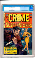 """Golden Age (1938-1955):Crime, Crime SuspenStories #25 Gaines File pedigree 9/12 (EC, 1954). Presenting """"Jolting Tales of Tension in the EC Tradition"""", thi..."""